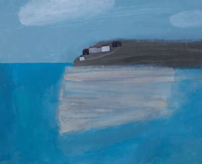 Sandbank Hayle Cornwall Mixed Media On Wooden Panel 60 X 80 Cm Uf £4250
