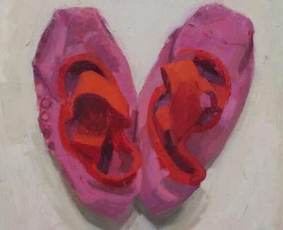 Sarah Cameron Mc Beans Ballet Socks  Oil On Board 20 X 20 Cm £950 00