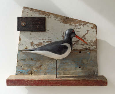 Shalder Carven And Constructed Wooden Assemblage 40 X 50 X 10 Cm