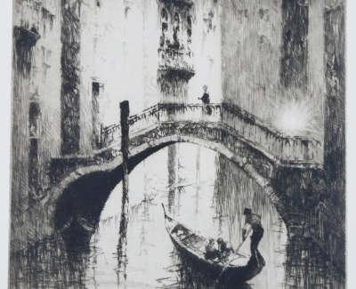 Sidney Mackenzie Litten Canale De Canonica Venice