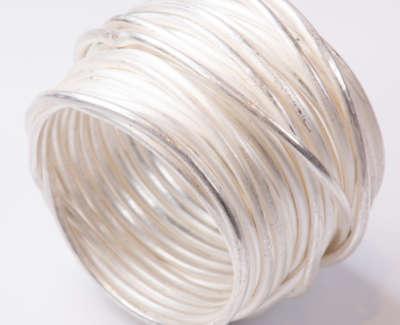 Silver Grande Spaghetti Ring