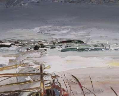 Snow Gate Drumlassie Oil On Paper 21 X 15