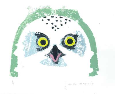 Snowy Owl 7 7 40X30Cm