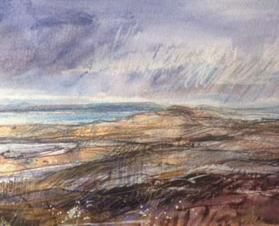 Squalls Gigha Mixed Media 14 X 28 Cm