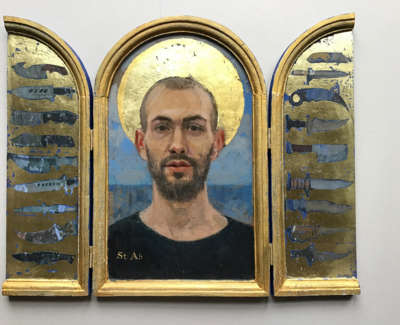 St Ab  Triptych  Oil On Board With Gold Leaf 34 X 43 Cm £1900 00