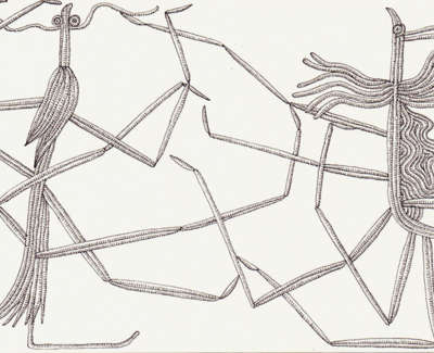 Stick Insects In Love Technical Pen On Paper 13 X21 5Cm £195
