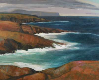 The Cliffs Of Yesnaby By N Macdonald
