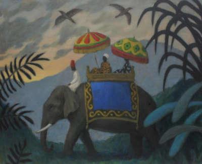 The Emissary Acrylic On Canvas 49 5 X 40 Cm