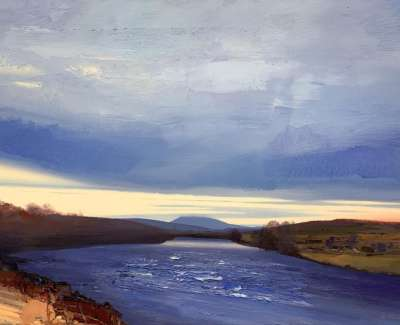 The River Dee At Twilight Dinnet