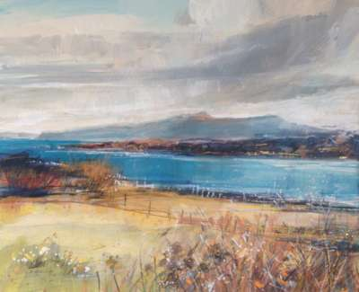 The Sound Of Iona Mixed Media With Gold Leaf 29 X 35 Cm