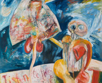The Ventriloquist Oil On Canvas C 1983 173X152 5Cm