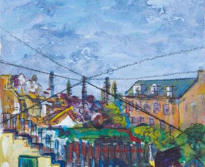 Thornville Terrace Locheand Leith Acrylic On Board 21 X 15 Cm £300