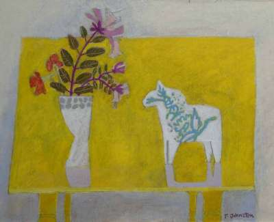 Tracey Johnston Yellow Table Top Still Lifeweb