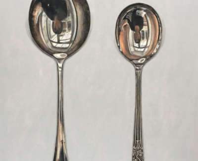 Two Round Spoons