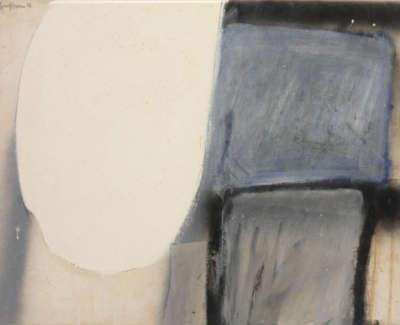 Untitled Blue Black White Jb 115