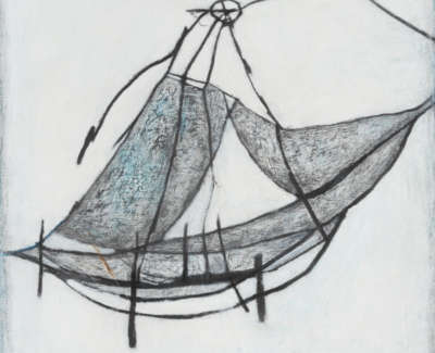 White Chinese Fishtrap 2006 Mixed Media On Canvas 51 X 51 Cm