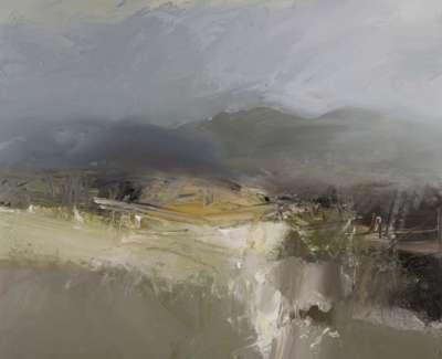 Wind Rain And Hail Finzean Oil On Canvas 120 X 100