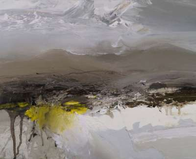 Winter Gorse The Hill Of Fayre Oil On Board 40 X 30