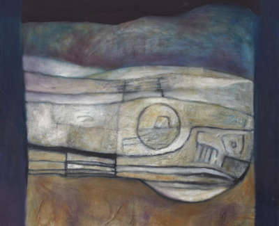 Winter Hillfort Fife 2006 Mixed Media On Canvas 122 X 121 Cm