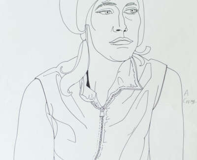 Woman In A Zipped Jacket Ink On Paper 170619 095526Web
