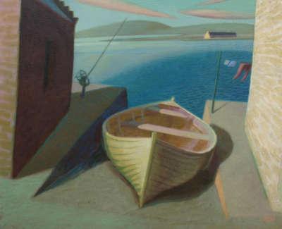 Yellow Boat By Neil Macdonald