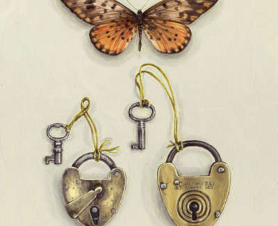 Butterfly With Padlocks 200