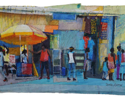 Cape Coast Street Sketch