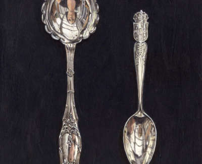 Two Fancy Spoons 200X160Mm