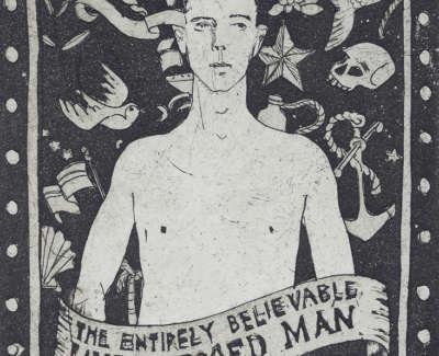 The Untattooed Man  Etching 15 X 10 Cm £150 00