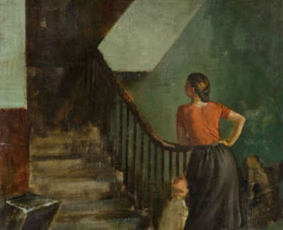 Morrocco  A  Stairhead Row Oiloncanvas1947 99X74