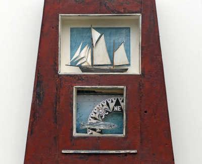 Malcolmson  A  Deep Sea Mixedmediaboxconstruction 55X46X10 650