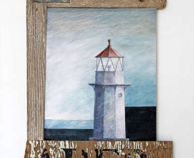 Malcolmson  A  Harbour Light Mixedmediaconstruction 44X27X2 525