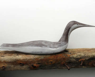 Malcolmson  A  Loon Carved,constructedandpaintedwood 25X75X20 455