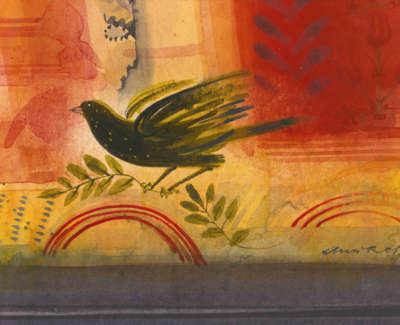 Ross  A  Birdin Paradise Watercolour 33X29  Sold
