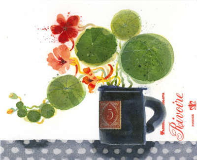 Ross  A  Cafe Flowers Watercolour 345X31  Sold