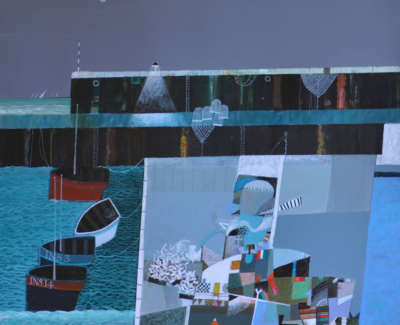 Dunbar Mc Intosh  Archie Rswrgi  Magic Harbour Acryliconboard 71X685Cm  Sold