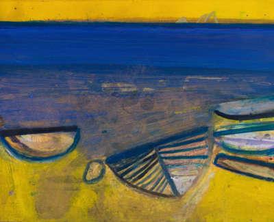 12 Rae Barbara St Finians Beach Mixedmediaonpaper 2002 57X77