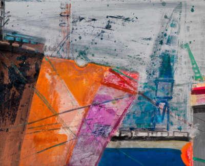 16 Rae Barbara Aberdeen Harbour Mixedmediaonpaper 2005 57X76