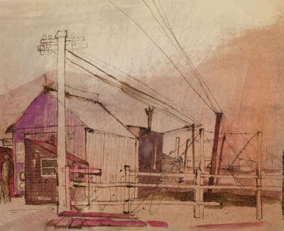 19 Rae Barbara Granton Harbour Inkwashonpaper 1961 36X50