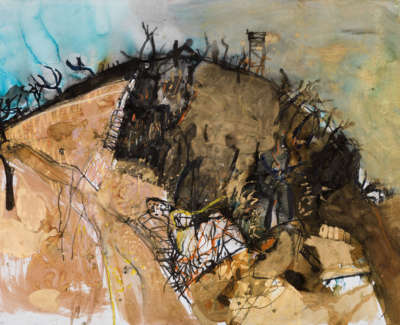 1 Rae Barbara Burnt Hillside Mixedmediaonpaper 1990 77X113