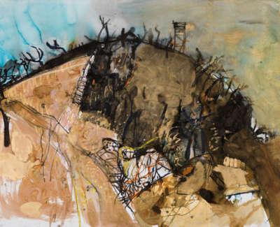 1 Rae Barbara Burnt Hillside Mixedmediaonpaper 1990 77X113