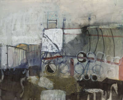 31 Rae Barbara Workyard Leith I Mixedmediaonpaper 1989 49X69