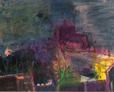 79 Rae Barbara Edinburgh Castle Scotland Mixedmedia 1994 73X99
