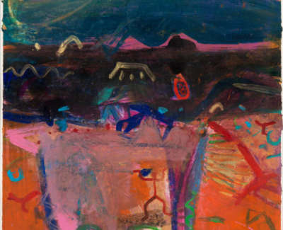 99 Rae Barbara Painted Desert Iiarizona Mixedmediaonpaper 1999 103X74