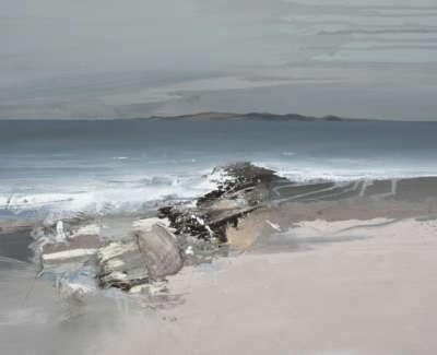 Bushe C Agentle Sea The Sound Of Taransay Mixed Media 74X51