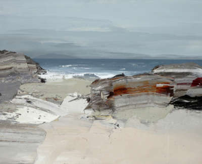 Bushe C Awelcoming Sea Balnahard Bay Oil On Paper 74X51
