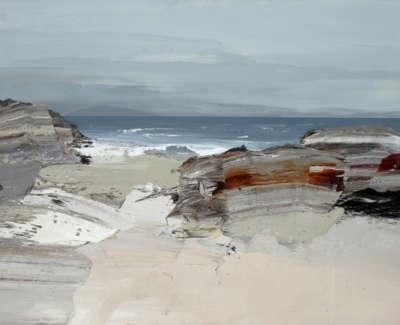 Bushe C Awelcoming Sea Balnahard Bay Oil On Paper 74X51