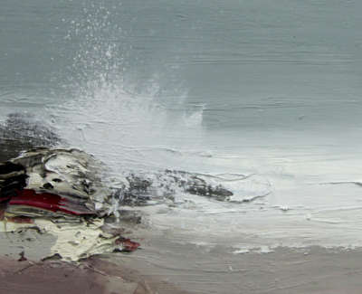 Bushe C Awinter Wave And Acleansing Sea Saligo Bay Oil On Board 36X26