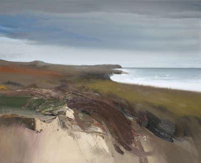Bushe C Autumn Saligo Bay Oil On Canvas 80X64