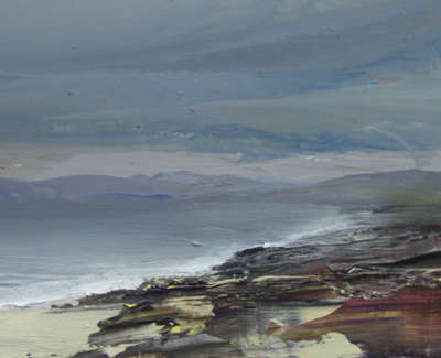Bushe C Breezy August Day South Harris Oil On Paper 16X26